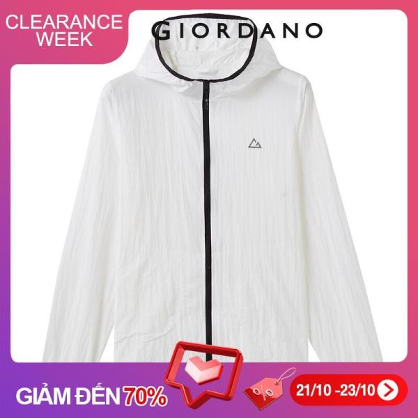 Giordano Women Jackets Anti-UV Waterproof Lightweight Hooded Jackets Interior Pocket UPF50+ Women Jackets Free Shipping 05370090