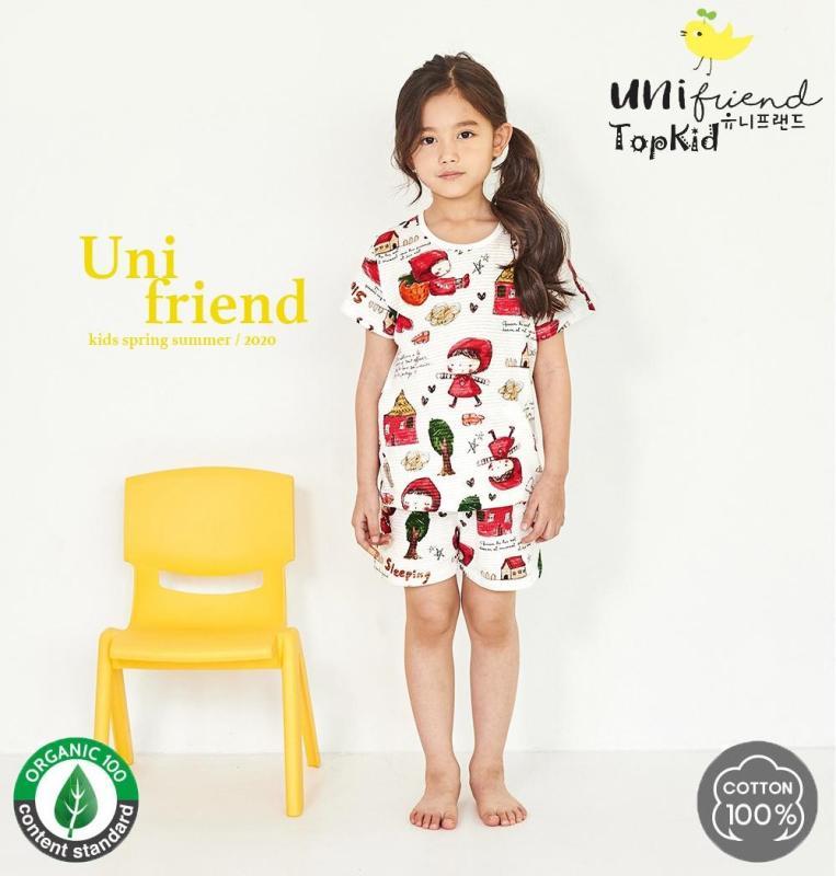 Nơi bán Bộ đồ bé gái ÁO CHOÀNG ĐỎ thương hiệu Unifriend Hàn Quốc 2020,  100% sợi Organic Cotton , mềm mại, thoáng mát, TOPKID