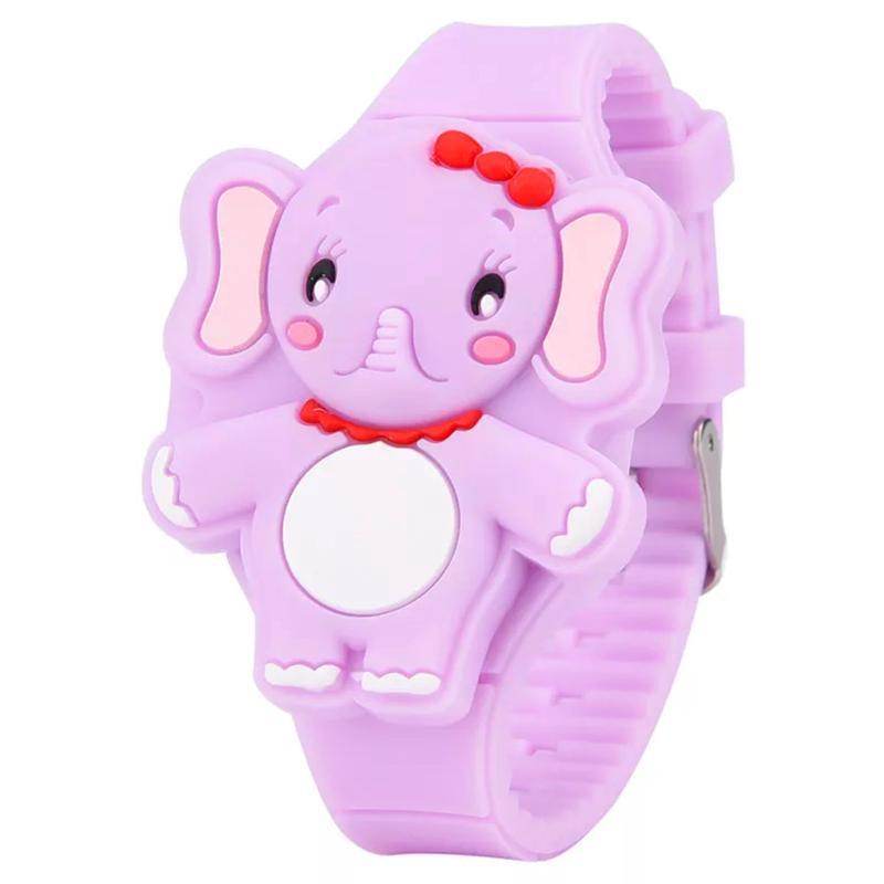 Đồng hồ đèn LED cho bé gái hình chú voi cute dây silicon xinh xắn – DH007 bán chạy