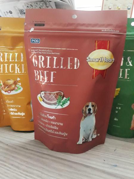 Bánh thưởng cho chó vị bò nướng Smartheart Dog treats Grilled Beef 100g