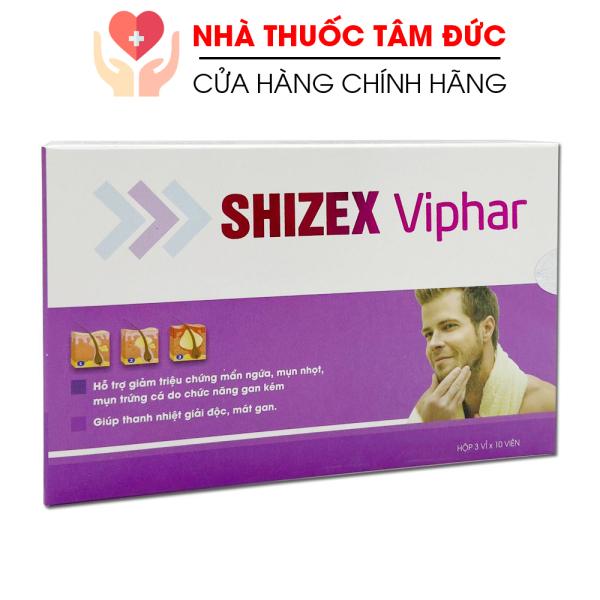 [HCM]Viên uống SHIZEX VIPHAR giảm mẩn ngứa mụn nhọt mụn trứng cá do gan kém - Hộp 30 viên