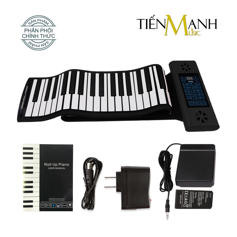 Đàn Piano Điện Konix PS88 - 88 phím cuộn mềm dẻo Flexible PS-88 - Hãng phân phối chính thức - (Roll Up Piano - Pin sạc 170mAh - Có Pedal - Midi Keyboard Controller)