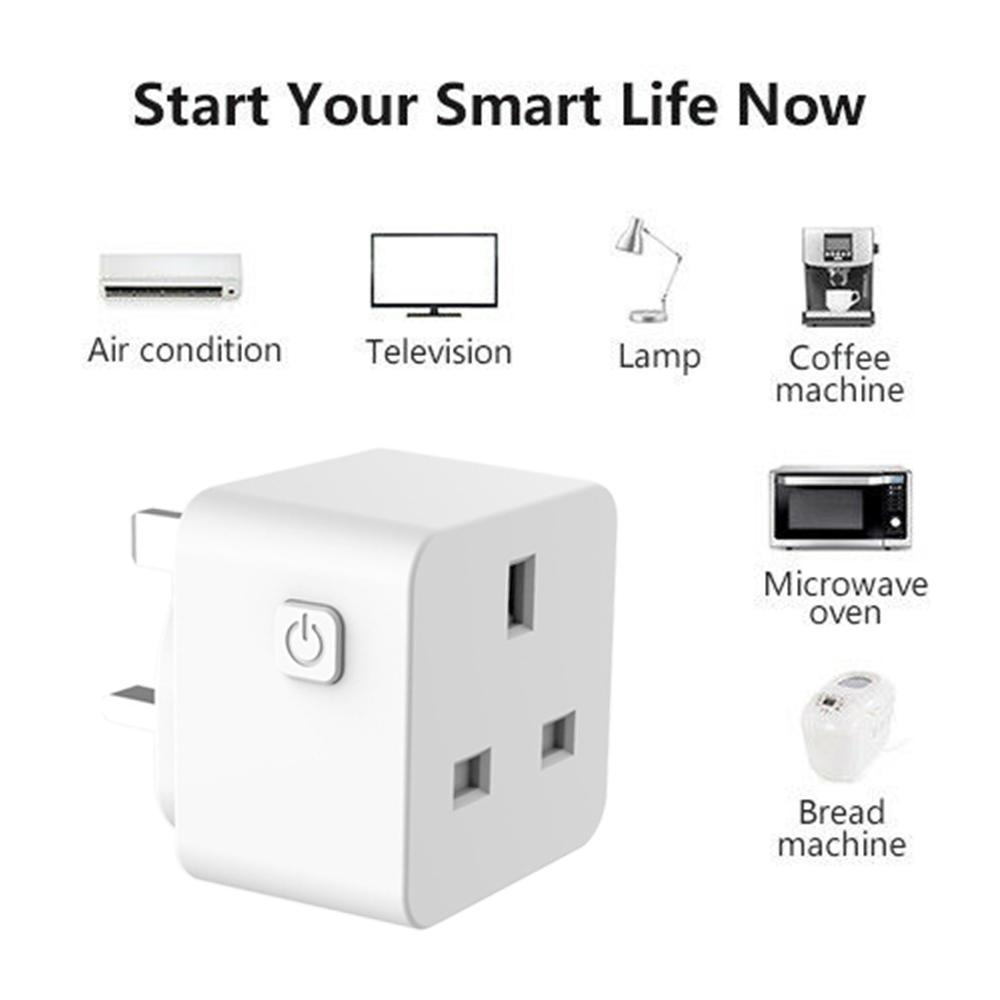 Vương Quốc Anh Cắm Điện Thoại Di Động Không Dây Wifi Ổ Cắm Điều Khiển Từ Xa Điều Khiển Giọng Nói Thời Gian Ổ Cắm Thông Minh Nhà Thông Minh Ổ Cắm Điện Alexa