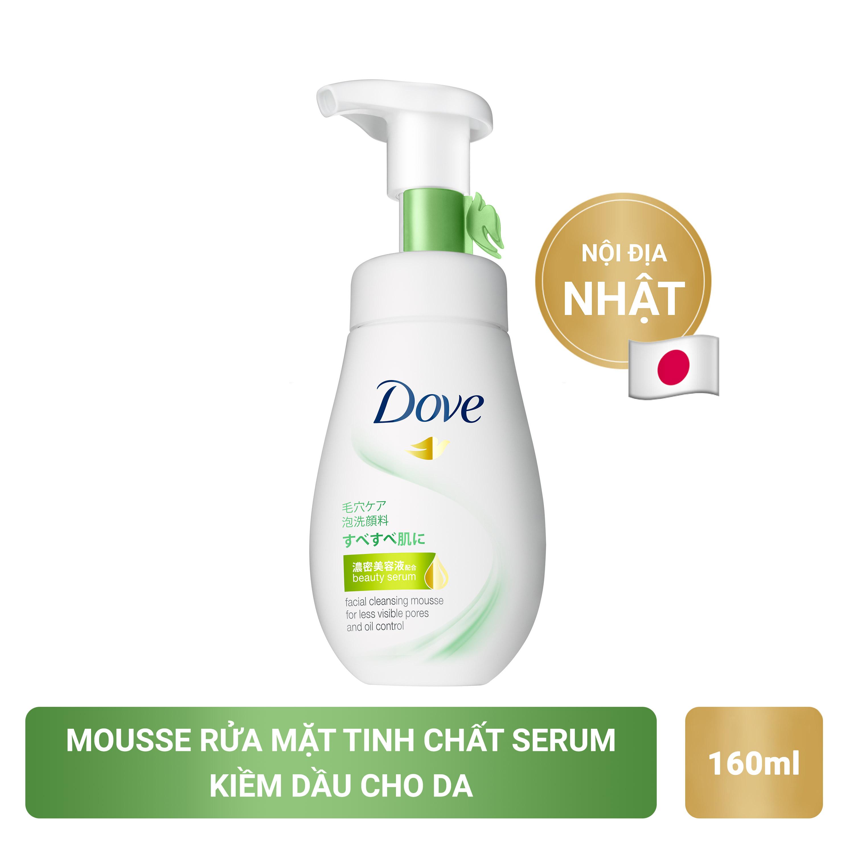 Deal Khuyến Mại Sữa Rửa Mặt Dạng Bọt Dove Tinh Chất – Serum Se Khít Lỗ Chân Lông Và Kiềm Dầu 160ml