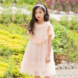 Đầm công chúa phối ren dịu dàng cho bé gái, Đầm trẻ em, Đầm dễ thương, Váy dự tiệc cho bé, Đầm dự tiệc cho bé, Đầm bé gái, Thời trang bé gái, Quần áo trẻ em, Đầm trẻ em, Đầm bé gái size đại, Đầm size đại thumbnail