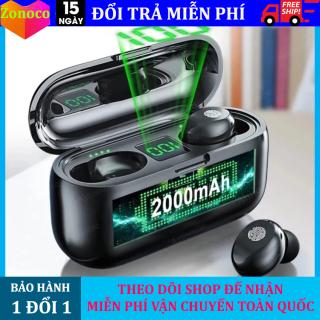 Tai nghe Bluetooth 5.0 Amoi F9 Tai nghe Bluetooth không dây 5.0, Amoi F9 kiêm sạc dự phòng 2000mAh, điều khiển cảm ứng, màn led báo pin, chống nước, chống ồn, âm thanh HiFi TWS True siêu Bass, siêu trầm micro HD tương thích mọi dòng Smart Phone thumbnail