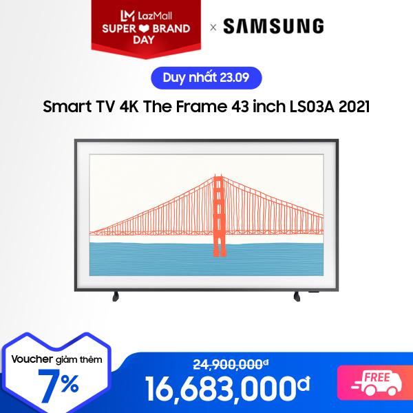 Bảng giá Smart TV Samsung 4K The Frame 43 inch LS03A 2021