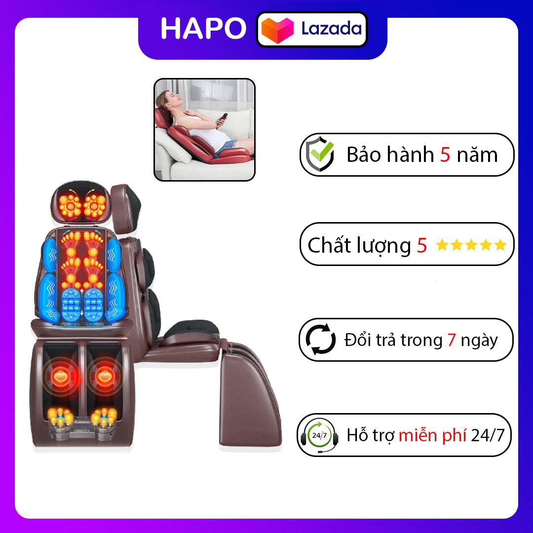 [Massage] ghế massage toàn thân Hapo,thiết kế nhỏ gon thông minh dễ dàng di chuyển,có điều khiển điều chỉnh chế độ