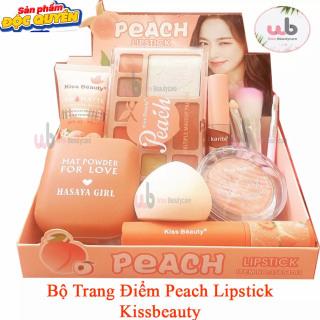 Bộ Trang Điểm Peach Lipstick Kissbeauty [ hàng chính hãng] gồm 09 món makeup đầy đủ và rất hợp Trend.Tặng kèm 1 cây chì. wowcosmeticbeauty botrangdiem thumbnail