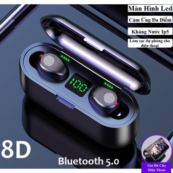 Bảng giá [HCM]Tai Nghe Bluetooth True Wireless AMOI F9 5.0 Cảm Ứng Vân Tay Nâng Cấp Dock Sạc có Led Báo Pin Kép Phong Vũ