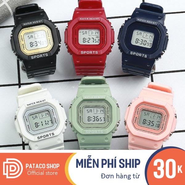 Đồng hồ điện tử nam nữ SPPORS S183 thể thao mặt chữ nhật cá tính full chức năng chống nước tốt