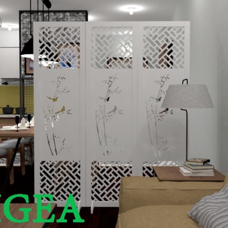 3 cánh Bình phong cây trúc thương hiệu IGEA