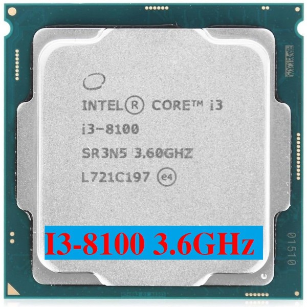 Giá CPU Intel Core i3 8100 (3.60GHz, 6M, 4 Cores 4 Threads)