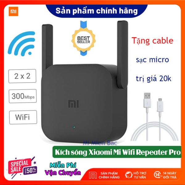 [BH 12 THÁNG] Kích Sóng WiFi Xiaomi - Thiết Bị Mở Rộng WiFi Xiaomi Mi Wifi Repeater Pro phiên bản mới 2020, 300Mbps 2 râu WiFi 2*2 DBI Antenna 2.4GHZ Giúp Tăng Khả Năng Phát Sóng Xuyên Tường, Hàng chính hãng – Mi Miền Bắc