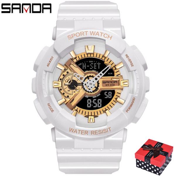 Đồng hồ Nữ thể thao SANDA 292, Chạy 2 Máy Cao Cấp Của Nhật, Chống Nước Rất Tốt bán chạy