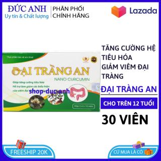 HSD 2023 Viên uống Đại Tràng An - Nano Curcumin kết hợp thảo dược quý giúp tăng cường hệ tiêu hóa, giảm viêm đại tràng hiệu quả - Hộp 30 viên chuẩn GMP Bộ Y tế thumbnail