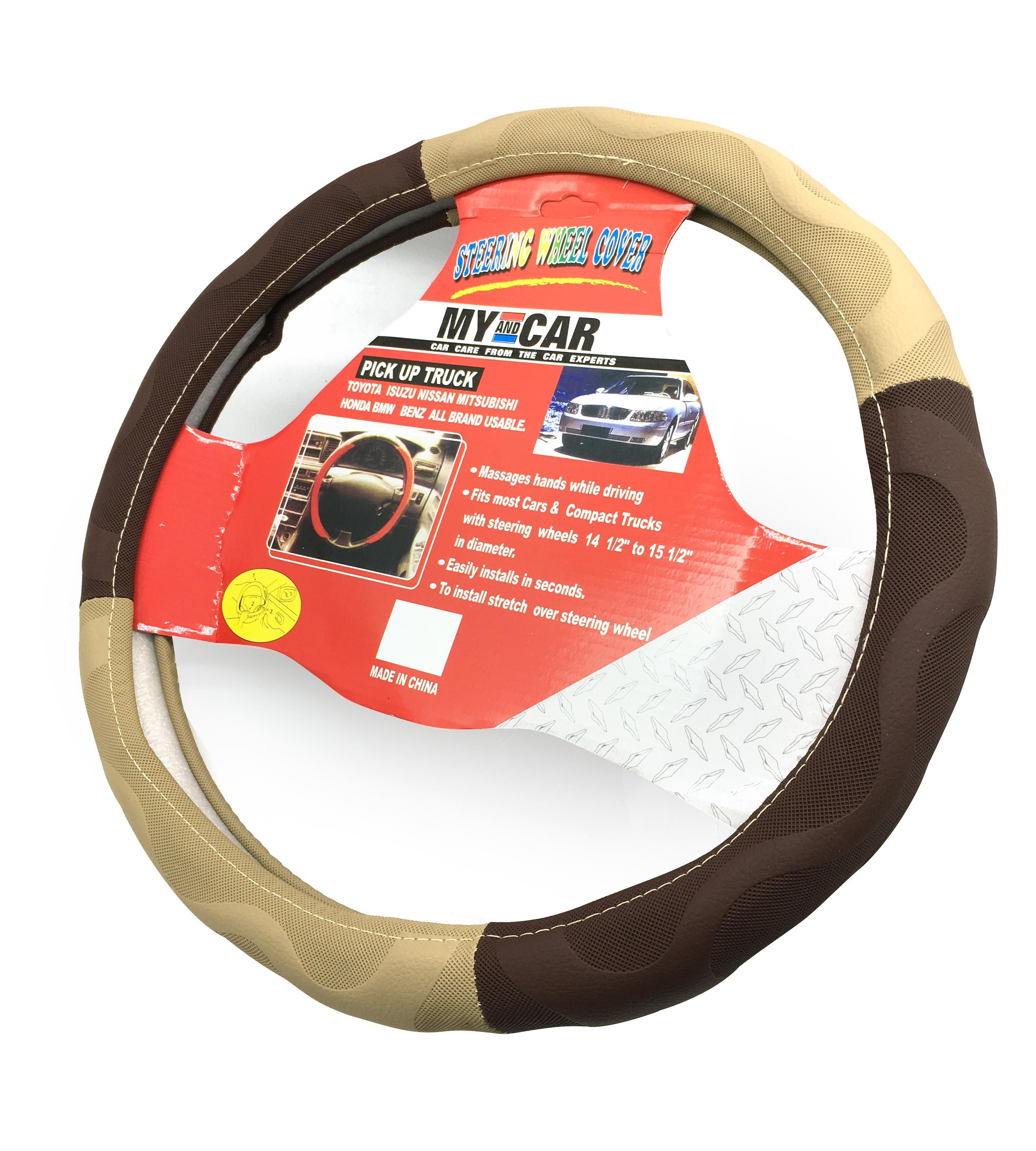 Vỏ bọc vô lăng 2 màu, vỏ bao bánh lái, cần lái xe hơi, xe ôtô, nhiều kích cỡ phù hợp đường kính bánh lái từ 36 đến 40 cm phù hợp hầu hết xe 4-5-7 chỗ và xe tải_BVL02 8