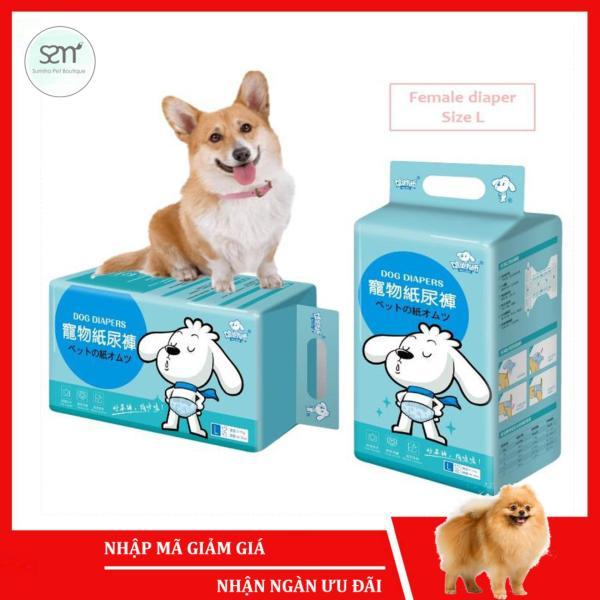Bỉm quần cho chó mèo cái (Female) Sumiho size L 12 cái dành cho chó 6-15Kg, eo 49cm x 22.5cm
