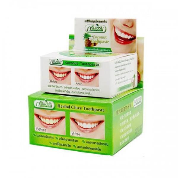 Kem Tẩy Trắng Răng Green Herb Herbal Clove Toothpaste Thái Lan