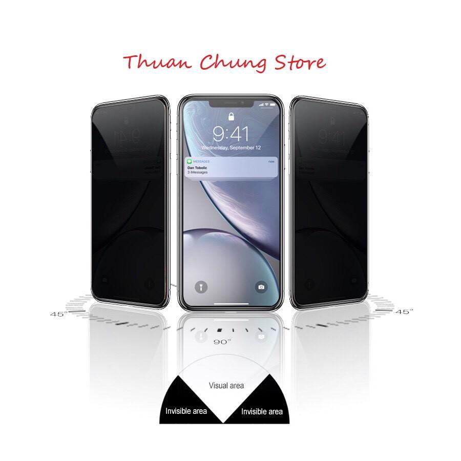 Giá KÍNH CƯỜNG LỰC CHỐNG NHÌN TRỘM CHO IPHONE 6 7 8 Plus X XS XR Xs Max CAO CẤP - Phụ kiện điện thoại