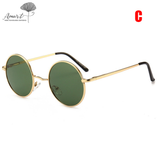 Amart Vintage Retro Round Sunglasses Metal Circle Frame Casual Sunglasses for Men thumbnail