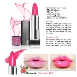 Son môi lâu trôi nhiều dưỡng Beauskin Crystal Lipstick No.22 3.5g (Hồng mười giờ) thumbnail