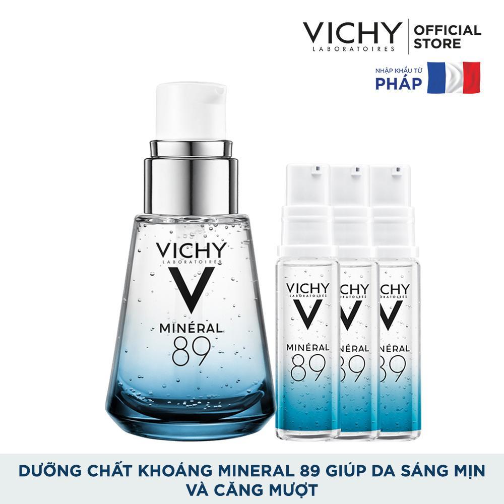 Bộ dưỡng chất khoáng cô đặc giúp phục hồi và nuôi dưỡng da căng mịn, sáng mượt Vichy Mineral 89 30ml Nhật Bản