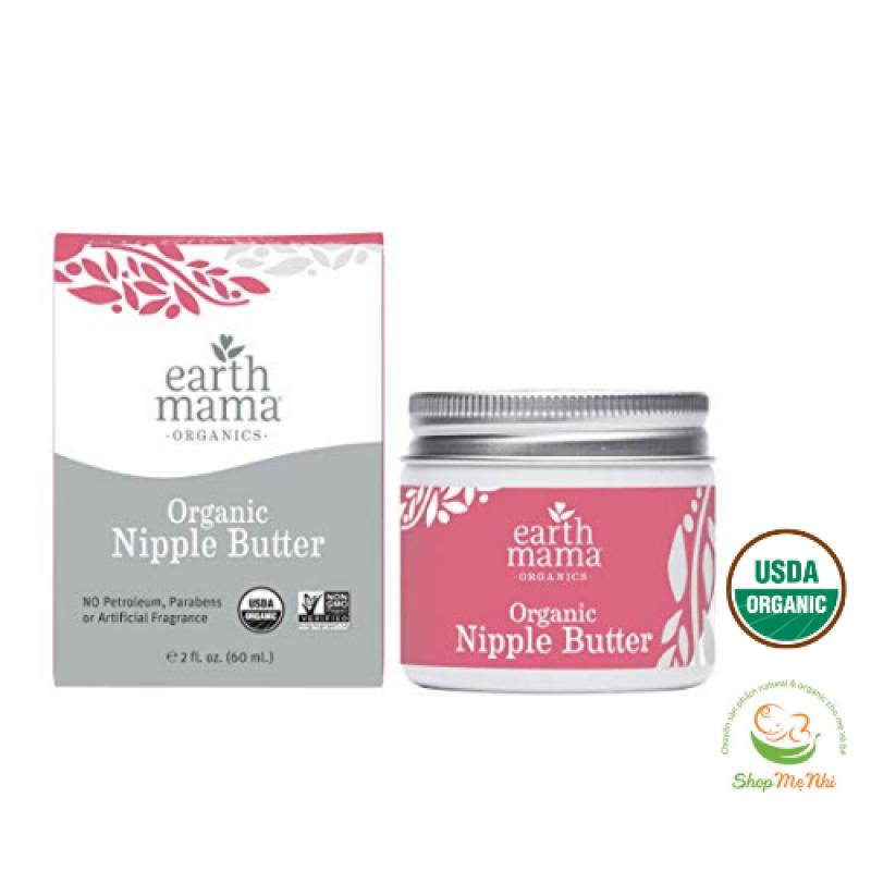 Kem nứt đầu ti cổ gà hữu cơ Earth mama organic nipple butter. cao cấp