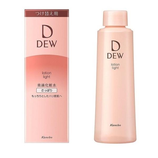 Refill - Nước hoa hồng chống lão hóa Kanebo DEW Lotion Light (150ml) - Da dầu giá rẻ