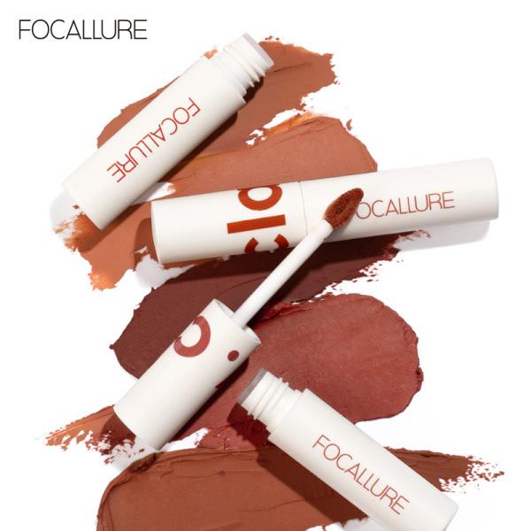 Focallure Son lì dạng kem nhiều màu sắc chất son mềm mịn - 16g Son bóng