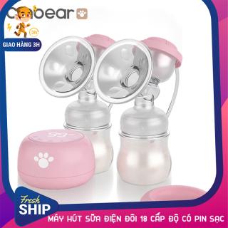 [GIAO HÀNG 3H] Máy hút sữa điện đôi cao cấp 18 cấp độ màn hình Led tích hợp Pin trong máy Cmbear ZRX-0618 thumbnail