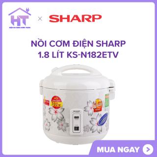 Nồi cơm điện Sharp 1.8 lít KS-N182ETV NEW Nồi cơm điện nấu cơm chín đều, thơm ngon với công nghệ nấu 2D. Nồi cơm điện thương hiệu Nhật Bản, sản xuất tại Thái Lan chất lượng tốt. thumbnail