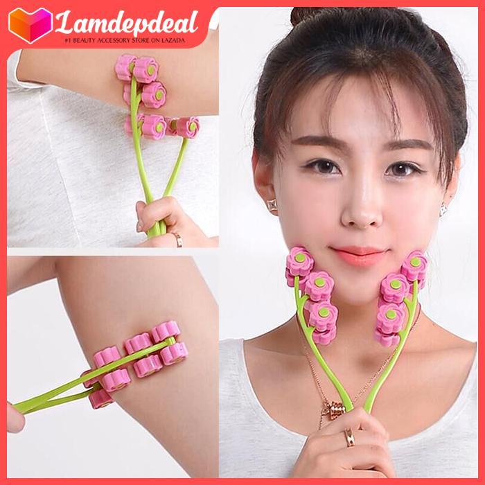 Lamdepdeal - Dụng Cụ Massage Mặt Thon Gọn V-Line - Cây lăn massage mặt, cây lăn tạo cằm VLine - Dụng cụ trang điểm.