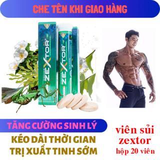 Viên sủi tăng cường sinh lực nam giới thảo dược Zextor 20 viên thumbnail