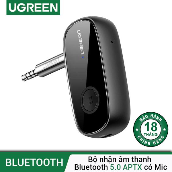 Bộ nhận âm thanh 5.0 APTX Bluetooth độ trễ thấp có mic 1 đầu cái 3.5mm UGREEN CM279 - Hãng phân phối chính thức