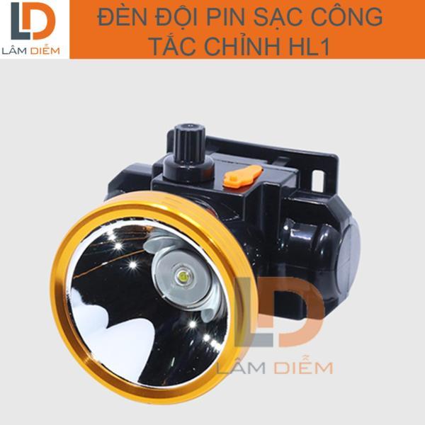 Đèn đội pin sạc kín nước công tắc chỉnh HL1
