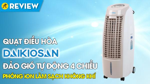 Quạt điều hoà Daikiosan DKA-01500B(mới 100%) hàng chính hãng,Bảng điều khiển:Remote, Nút nhấn có màn hình hiển thị Tiện ích:Có thang đo hiển thị mực nước, Hẹn giờ tắt