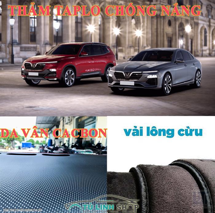 Thảm Taplo ô tô Vinfast LUX LUX SA nhung lông Cừu 3 lớp hoặc Da vân Cacbon - CarSun Store