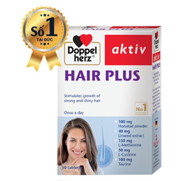 [Hộp 30 viên] Viên tóc, mọc tóc, kích thích tóc nhanh dài HAIR PLUS- Viên uống kích thích mọc tóc giá rẻ