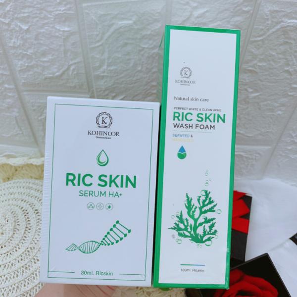 Combo serum và sữa rửa mặt Ric Skin