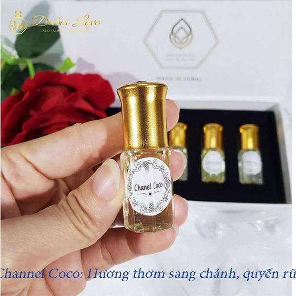 Tinh dầu nước hoa dubai - chai mini 3ml - bỏ túi tiện lợi khi sử dụng - Hương thơm quyến rũ - lưu hương lâu nhập khẩu