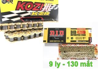[CHỌN 1 TRONG 2] sên DID sên vàng tem xanh 130 mắt sên vàng 9ly DID phù hợp tất cả các dòng xe phổ thông và 150...-hoặc khách có thể lựa chọn sên KOZI 130 mắt chất lượng tuyệt hảo từ Malay- thumbnail