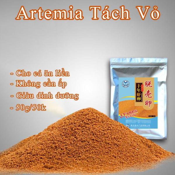 Artemia Sấy Khô - Cho Cá Ăn Không Cần Ấp (50g)