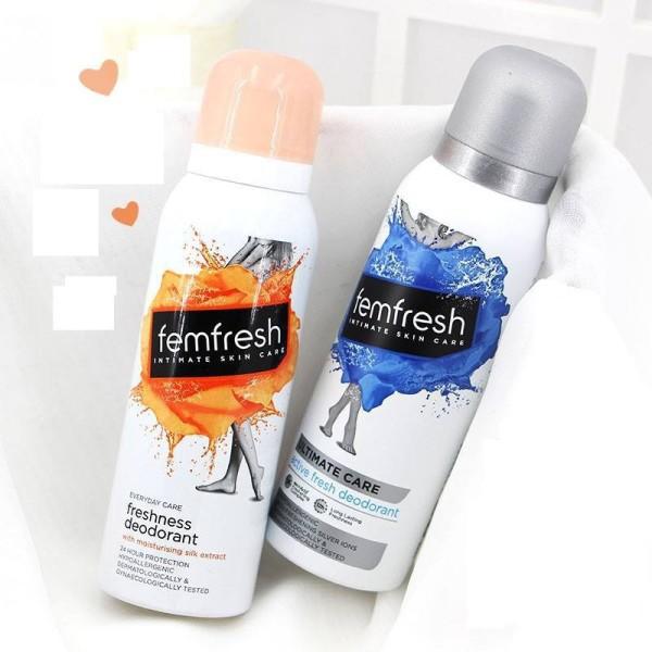 Xịt thơm mát vùng kín cao cấp Femfresh Deodorant Spay 125ml    Xanh - Ion Bạc cao cấp