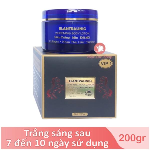 [Tặng nước hoa] Kem body trắng da, kem dưỡng trắng da toàn thân, chống nắng SPF 50++ Elantralinic VIP 1 (200gr) giá rẻ