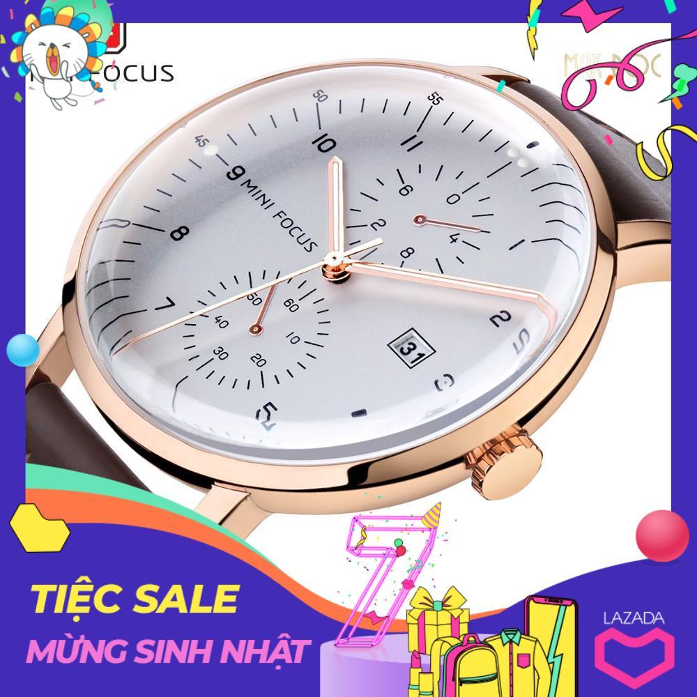 Nơi bán Đồng hồ nam Mini Focus dây da cao cấp thanh lịch thời thượng MDH-MF052