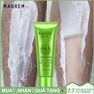MABREM Hair Removal Cream Painless Hair Remover For Armpit Legs And Arms Skin Care Body Care Depilatory Cream 40g For Men Women 4.7 thumbnail