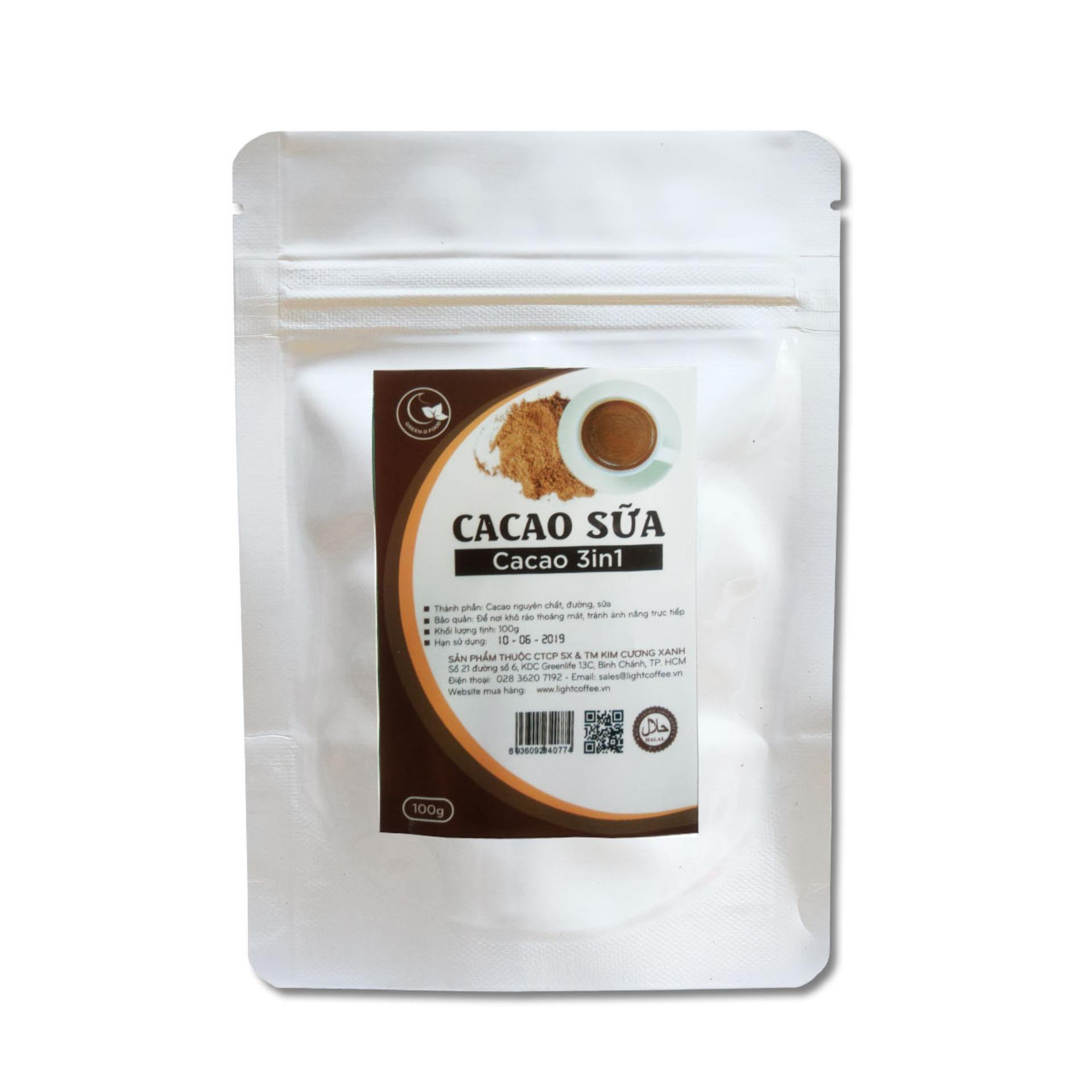 Bột cacao sữa 3IN1 cho trẻ em- Light Ca cao - 100gr