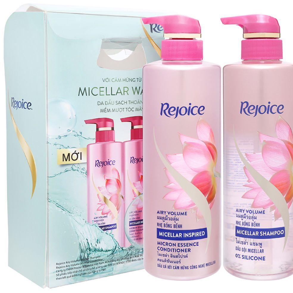 Bộ dầu gội và dầu xả Rejoice Micellar nhẹ bồng bềnh 480ml giá rẻ