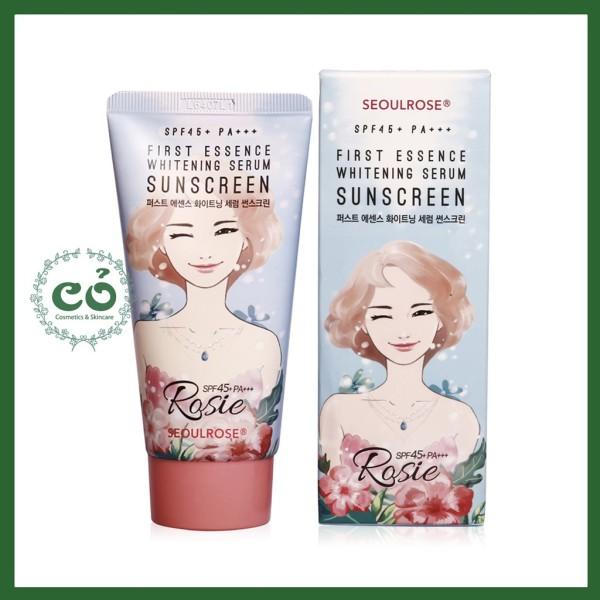Kem chống nắng rosie first essence whitening serum sunscreen cam kết sản phẩm đúng mô tả chất lượng đảm bảo an toàn đến sức khỏe người sử dụng